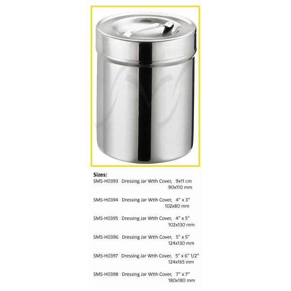 Dressing Jar With Cover 1