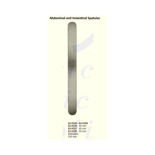 Abdominal and Intestinal Spatulas Malleable 1