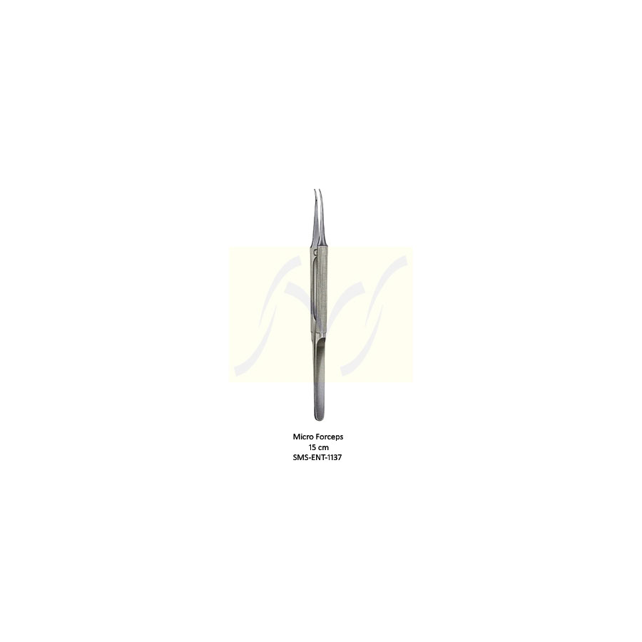 Micro Forceps Curved | Otology | ENT Surgical | SMS Instruments