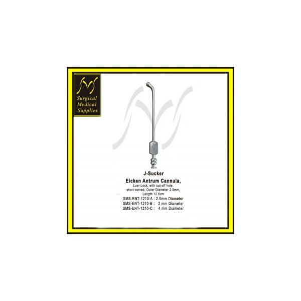 J Sucker Eicken Suction Tube Luer Lock Short Curved 12.5 cm 1