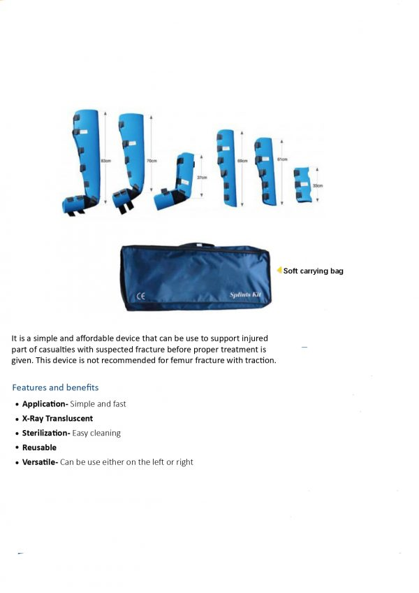 Splint Set with Carrying Case