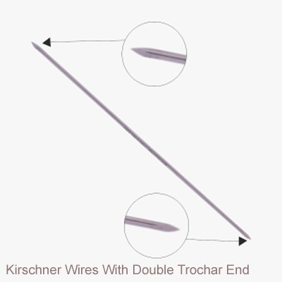 Kirschner Wires With Double Trochar End